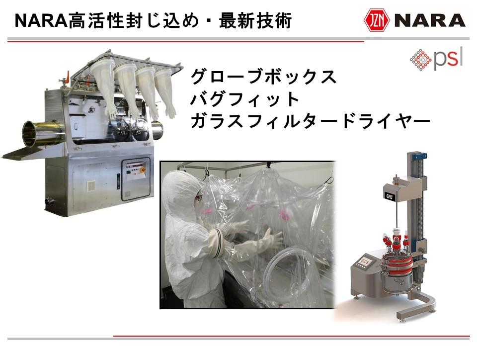奈良機械製作所・高活性封じ込め技術…納入例と最新技術情報